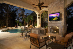 outdoor home entertainment center palm springs