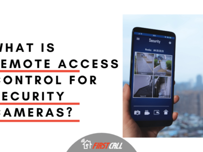 What is Remote Access Control for security cameras?